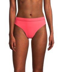 bond-eye women's calvin high waisted bikini bottoms - pink - size m