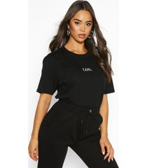 oversized t-shirt met london microprint, zwart