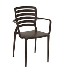 cadeira plástica sofia summa tramontina 92036109 marrom
