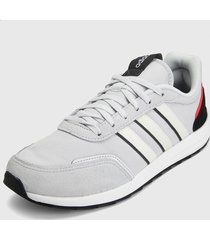 tenis lifestyle gris-negro-coral adidas performance retrorun
