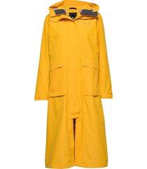 sissel wns coat dunne lange jas geel didriksons