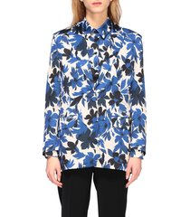 boutique moschino blazer boutique moschino jacket in floral patterned cady