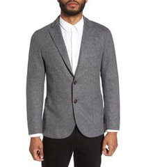 men's eleventy slim fit wool blend sport coat, size 48 us - black