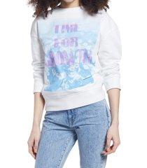 women's bp. pullover sweatshirt, size medium - white