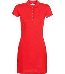 korte jurk tommy hilfiger new slim polo dress