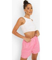boxer shorts met knoop detail, pink