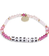 women's little words project warrior beaded stretch bracelet