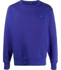 acne studios classic fit sweatshirt - blue