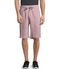 alternative men's cotton drawstring shorts - light mauve - size m