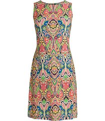 bohemian-print sheath dress