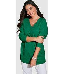 sweatshirt miamoda groen