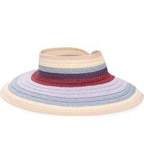 women's nordstrom multicolored packable visor - purple