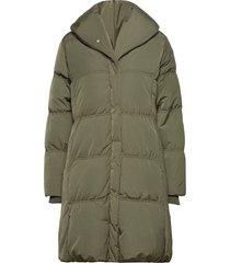 liyaiw cups coat gevoerde lange jas groen inwear