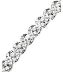 diamond bracelet in 14k white gold (3 ct. t.w.)