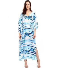 78a963cc5 kaftan 101 resort wear vestido quimono crepe listrado azul branco