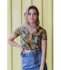 24 colours blouse geel 30216