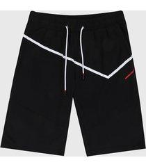 pantaloneta negro-blanco-rojo urban tokyo