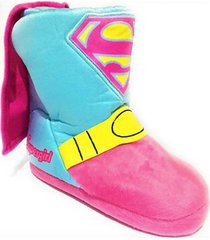 supergirl dc plush boot costume slippers w/ cape sizes 9/10, 11/12, 13/1 or 2/3