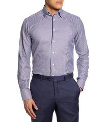 men's eton slim fit houndstooth dress shirt