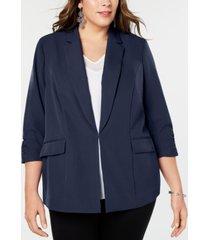 inc plus size 3/4-sleeve blazer, created for macy's