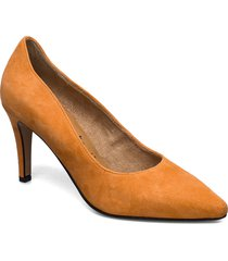 woms court shoe shoes heels pumps classic orange tamaris