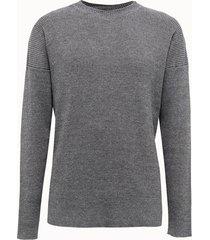 barena maglia scalfuro in misto lino grigio