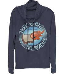 fifth sun juniors disney lilo stitch pudge weather fleece cowl neck sweatshirt