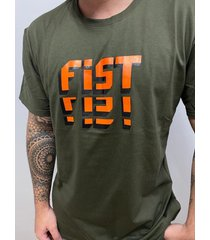 camiseta fist collection tetris verde