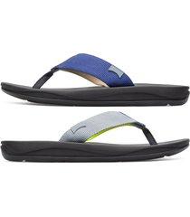 camper twins, sandali uomo, grigio/giallo/blu, misura 46 (eu), k100581-002