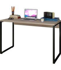 escrivaninha mesa de escritório studio industrial 120 m18 carvalho bruma – mpozenato
