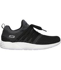 tenis lifestyle negro-gris skechers bobs sport sparrow - sneaker club  con envio gratis