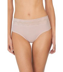 natori bliss perfection one-size high rise thong underwear intimates, women's, red, 100% cotton natori