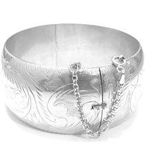 bracelete prata mil italiano de prata