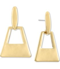 alfani gold-tone geometric drop earrings, created for macy's