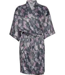 kimono ochtendjas grijs schiesser