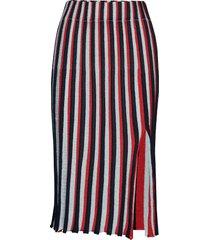 wesley, 581 sparkle knit knälång kjol röd stine goya