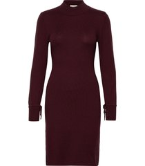bellacr dress jurk knielengte rood cream