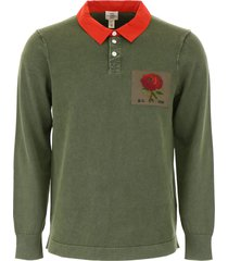 kent & curwen polo with rose patch