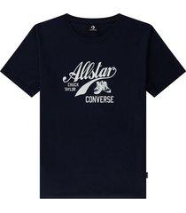 converse camiseta boyfriend chuck taylor archive script black, purple