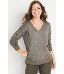 maurices womens solid v neck sweatshirt blue