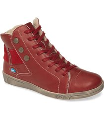 cloud aline water resistant bootie, size 9.5-10us in red leather at nordstrom