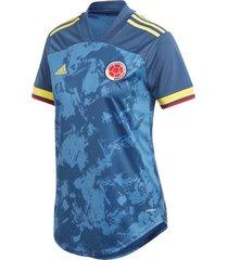 camiseta adidas selección colombia color azul femenino
