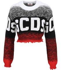 gcds sweater logo with degradè pattern