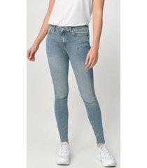 jeans slfida mw skinny mid blue jeans