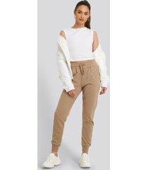 na-kd basic basic sweatpants - beige