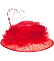 josette feather trimmed down brim hat