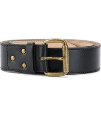 acne studios unisex leather belt - black
