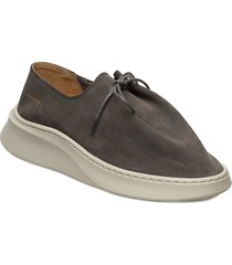 yatfai sneaker sage suede snörade skor låga grön gram