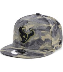 new era men's houston texans worn camo 9fifty cap