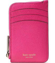 women's kate spade new york margaux leather zip card holder - pink